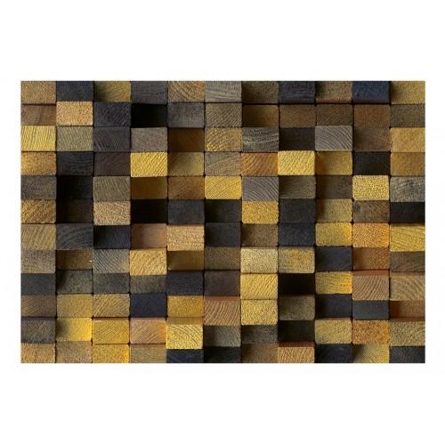 Fotomurale - Cubi di legno - Quadri e decorazioni