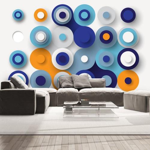 Fotomurale - Geometry Of Blue Wheels - Quadri e decorazioni