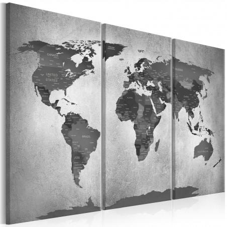 Quadro - Map on Concrete (3 Parts) - Quadri e decorazioni