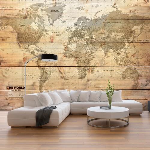Fotomurale - Map on Boards - Quadri e decorazioni