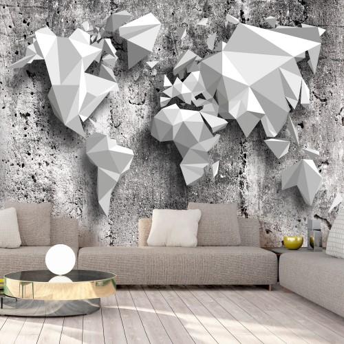 Fotomurale - World Map: Origami - Quadri e decorazioni