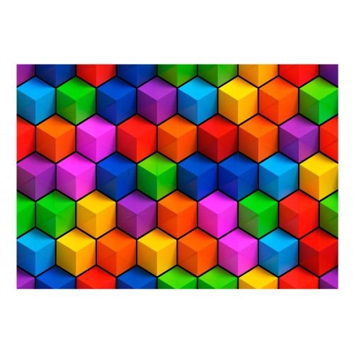 Fotomurale - Colorful Geometric Boxes - Quadri e decorazioni