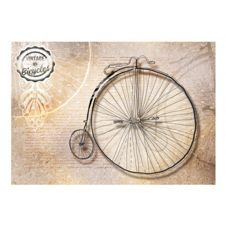 Fotomurale - Vintage bicycles - sepia - Quadri e decorazioni