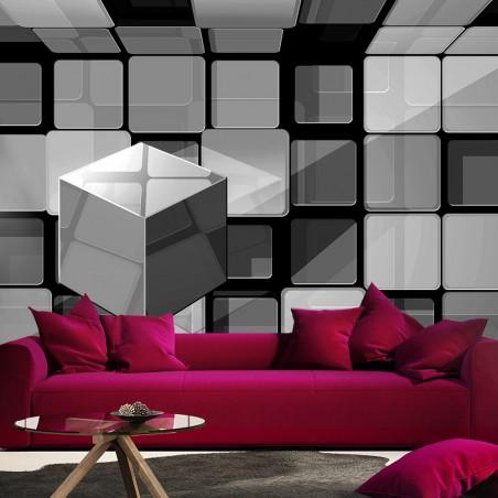 Fotomurale - Rubik's cube in gray - Quadri e decorazioni