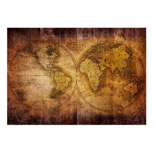 Fotomurale - Mondo sulla cartina vecchia - Quadri e decorazioni