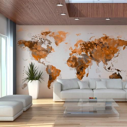 Fotomurale - Mondo di tonalità marroni - Quadri e decorazioni