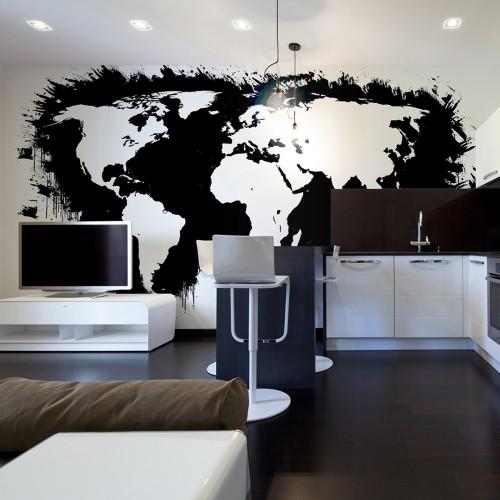 Fotomurale - Continenti bianchi, oceani neri... - Quadri e decorazioni