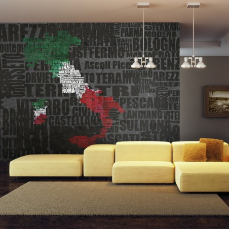 Fotomurale - Text map of Italy - Quadri e decorazioni