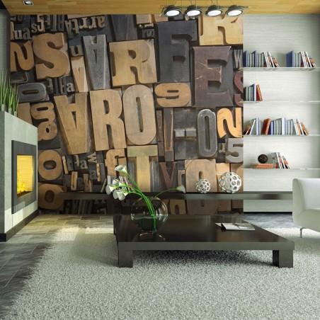 Fotomurale - Lettere di legno - Quadri e decorazioni