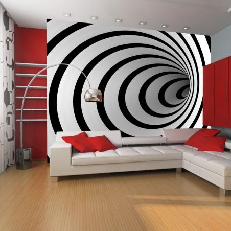 Fotomurale - Tunnel bianco e nero 3D - Quadri e decorazioni