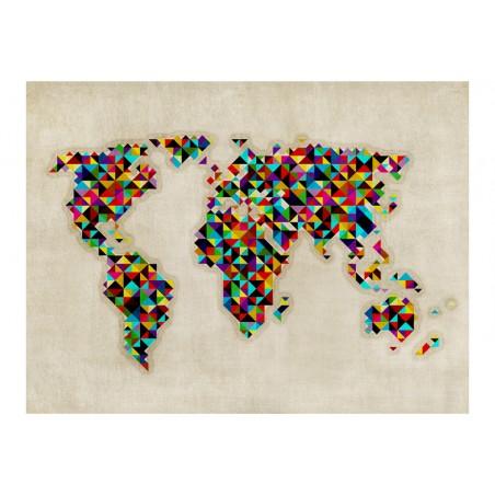 Fotomurale - World Map - a kaleidoscope of colors - Quadri e decorazioni