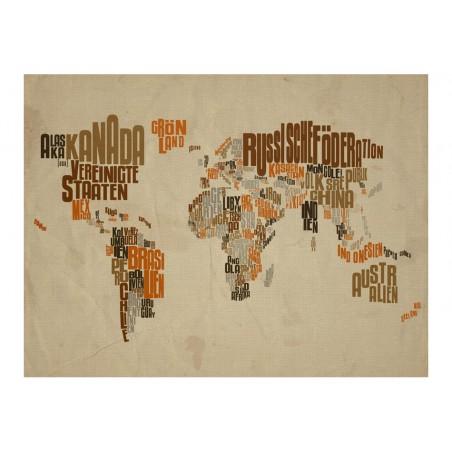 Fotomurale - Indiana Jones - map of adventures - Quadri e decorazioni