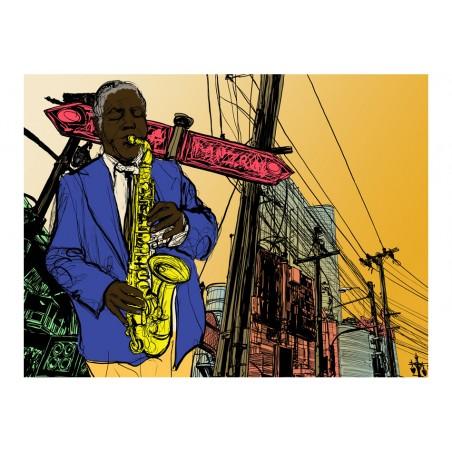 Fotomurale - Saxophonist in New York - Quadri e decorazioni