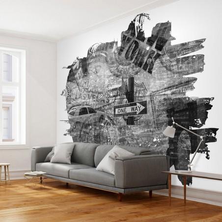 Fotomurale - Black-and-white New York collage - Quadri e decorazioni
