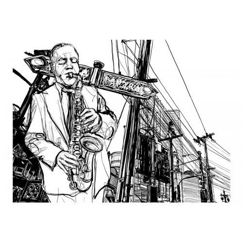 Fotomurale - Saxophone recital on Broadway - Quadri e decorazioni