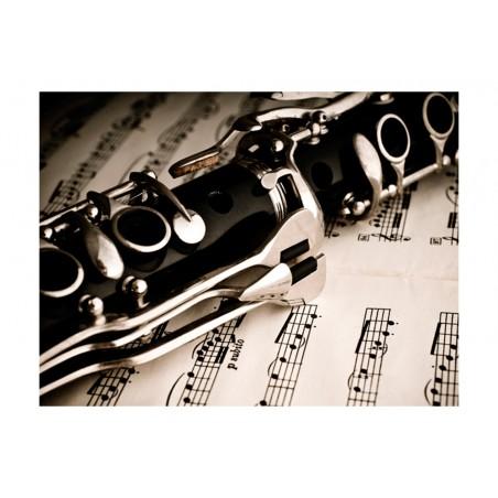 Fotomurale - Clarinetto e note musicali - Quadri e decorazioni