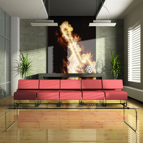 Fotomurale - Chitarra in fiamme - Quadri e decorazioni