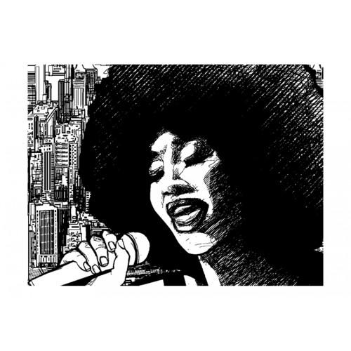 Fotomurale - Cantante jazz - Quadri e decorazioni