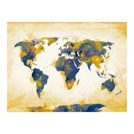 Fotomurale - Map of the World - Sun and sky - Quadri e decorazioni