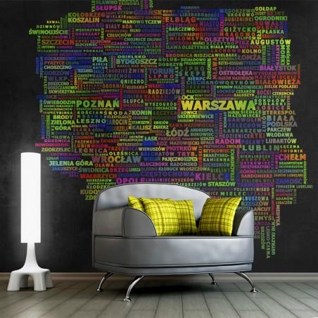 Fotomurale - Mappa della Polonia - Quadri e decorazioni