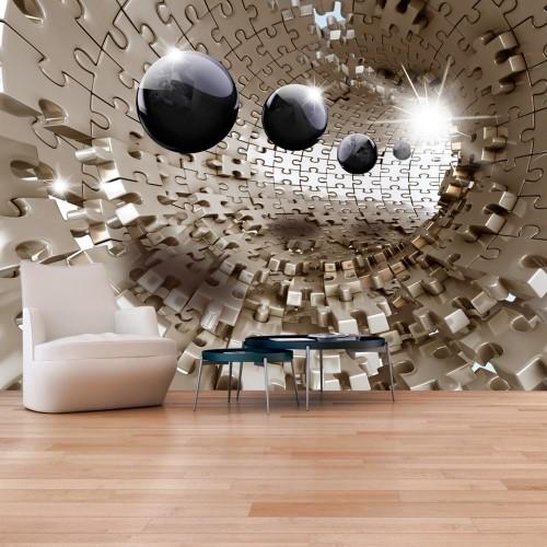 Fotomurale - Golden Jigsaw - Quadri e decorazioni