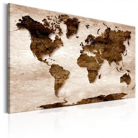 Quadro - World Map: The Brown Earth - Quadri e decorazioni