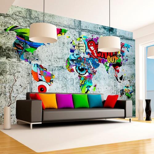 Fotomurale - Map - Graffiti - Quadri e decorazioni