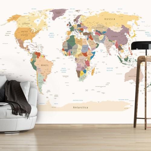 Fotomurale - Mappa del mondo - Quadri e decorazioni