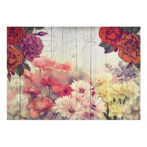 Fotomurale - Vintage Flowers - Quadri e decorazioni