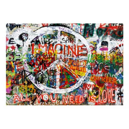 Fotomurale - Hippie Graffiti - Quadri e decorazioni