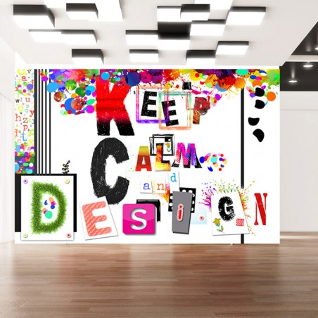 Fotomurale - Keep Calm and Design - Quadri e decorazioni