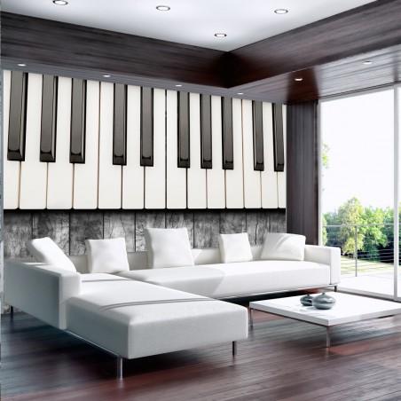 Fotomurale - Ispirato a Chopin - legno grigio - Quadri e decorazioni