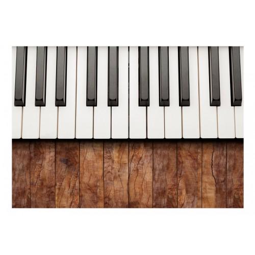 Fotomurale - Ispirati a Chopin - mogano - Quadri e decorazioni