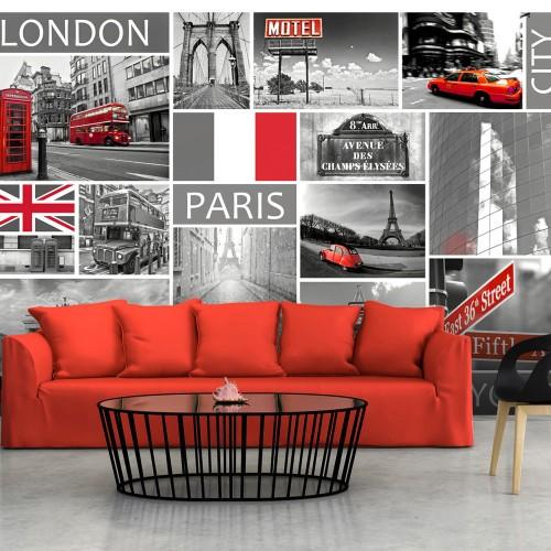 Fotomurale - London, Paris, Berlin, New York - Quadri e decorazioni