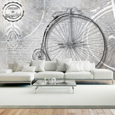 Fotomurale - Vintage bicycles - black and white - Quadri e decorazioni