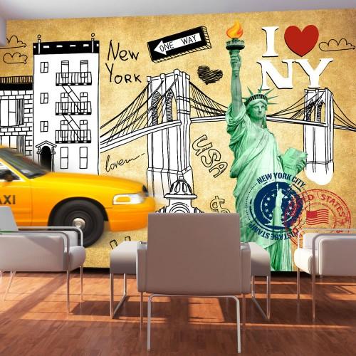 Fotomurale - One way - New York - Quadri e decorazioni