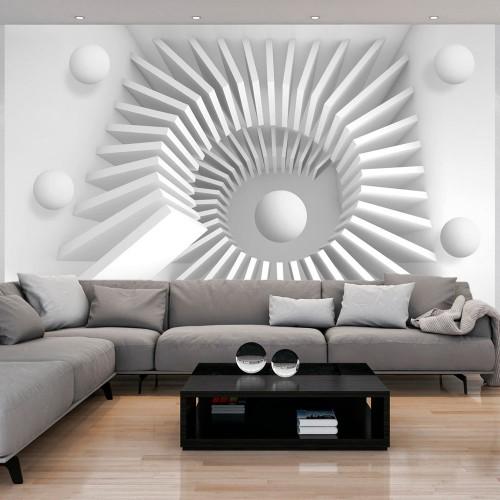 Fotomurale - White jigsaw - Quadri e decorazioni