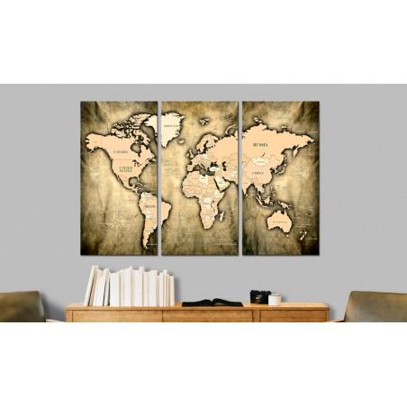 Quadro - World Map: The Sands of Time - Quadri e decorazioni
