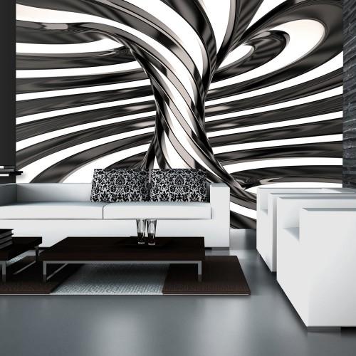 Fotomurale - Black and white swirl - Quadri e decorazioni