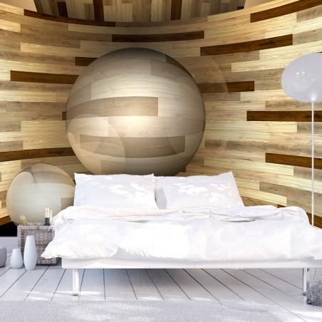 Fotomurale - Orbita di legno - Quadri e decorazioni