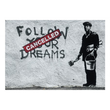 Fotomurale - Dreams Cancelled (Banksy) - Quadri e decorazioni