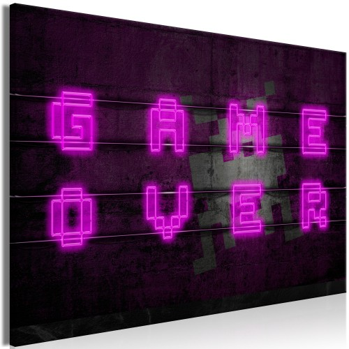 Quadro - Pink Neon (1 Part) Wide - Quadri e decorazioni