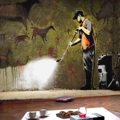 Fotomurale - Banksy - Cave Painting - Quadri e decorazioni