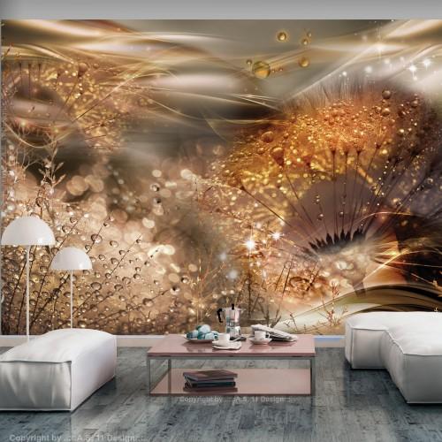 Fotomurale - Dandelions' World (Gold) - Quadri e decorazioni