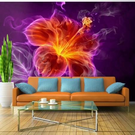 Fotomurale - Fiore ardente in porpora - Quadri e decorazioni