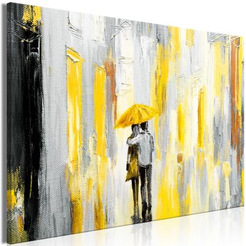 Quadro - Umbrella in Love (1 Part) Wide Yellow - Quadri e decorazioni