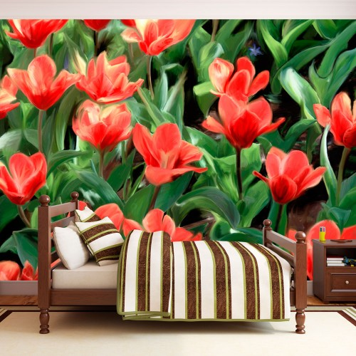 Fotomurale - Painted flowers - Quadri e decorazioni