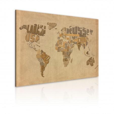 Quadro - Vecchia mappa del mondo - Quadri e decorazioni