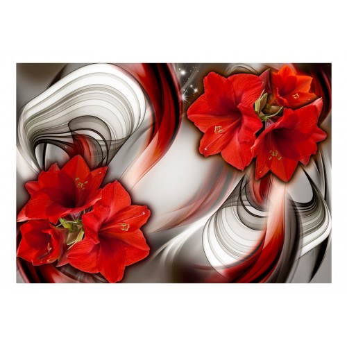 Fotomurale - Amaryllis - Ballad of the Red - Quadri e decorazioni
