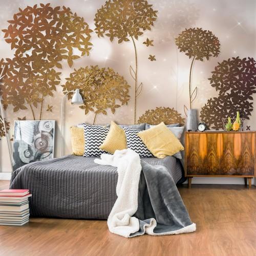 Fotomurale - Golden Garden - Quadri e decorazioni